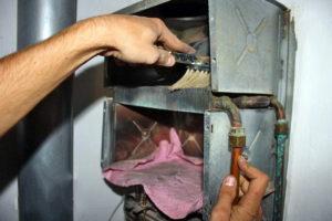 чистка газовой колонки